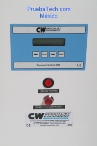camara de corrosion ciclica C&W CW control panel